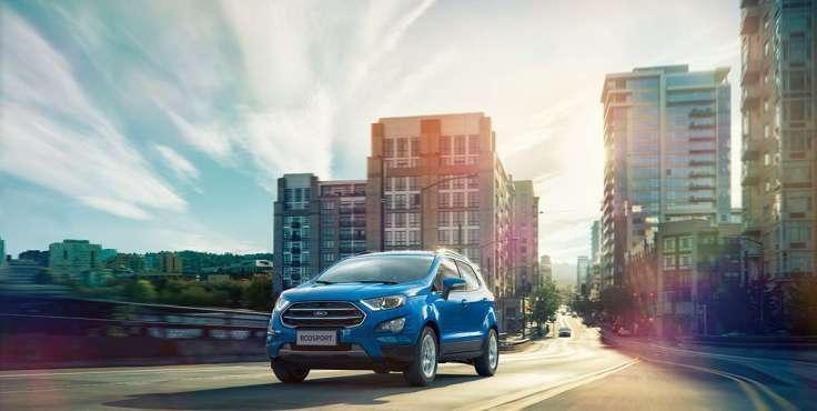 【圖二】活動期間入主動勁智能輕休旅Ford EcoSport 1.5L都會時尚型享舊換新現金價NT$ 59.9萬元。