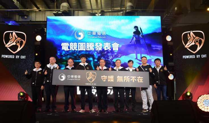 圖二 中華電信電競圖騰發表會啟動儀式 (由左至右:中華電信副總經理林文智、中華電信數據分公司總工程師鍾鳴、中華電信行動分公司總經