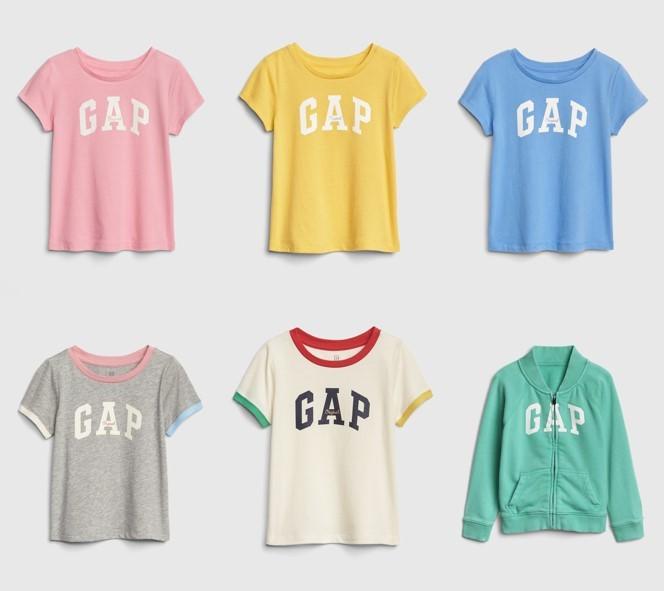 05.Gap因應春遊前的治裝需求,推出多款繽紛粉嫩色系的Gap Logo上衣,讓小朋友皆可在色彩中成長