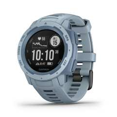 全新 Garmin Instinct GPS 腕錶_海沫藍