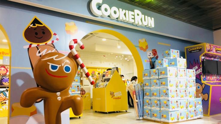 「勇敢餅乾」在韓國快閃店前的樣貌
