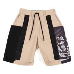 「WEAVISM」侍魂聯名畫報抽繩短褲(卡其)