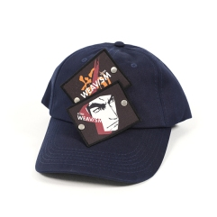 「WEAVISM」可抽換徽章老帽- 真怒(藍)