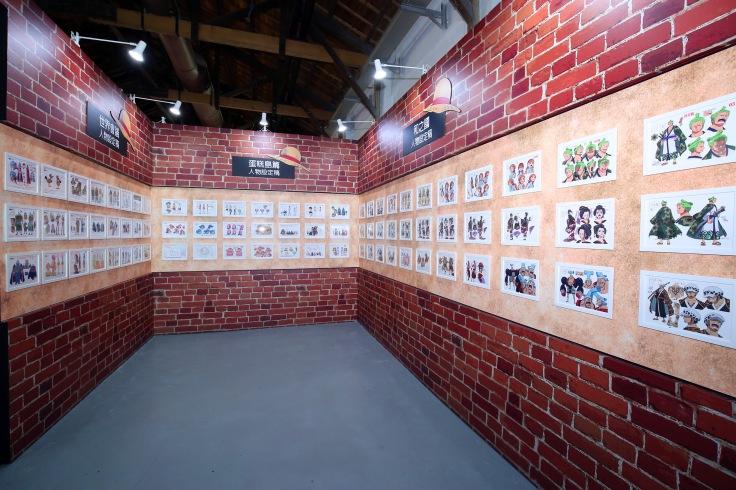 展覽中展出七月航海王動畫全新篇章的和之國設定稿