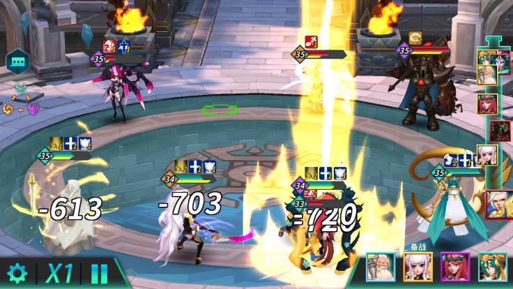 回合戰鬥在加入出手順序後,戰鬥會有更多的變化和思考方向。