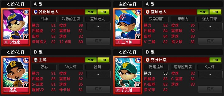 ★《全民打棒球2 Online》CPBL球種調整