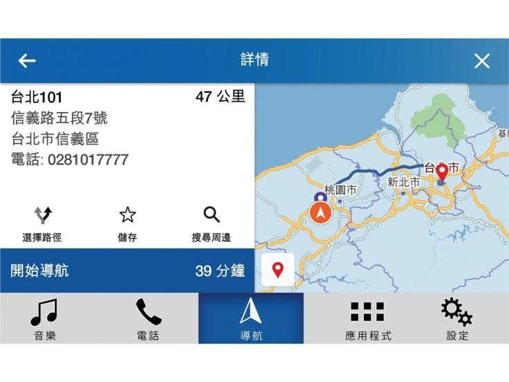 Ford的SYNC3資訊娛樂系統整合Waze導航應用程式,讓駕駛人可以儘早了解行車路線的路況