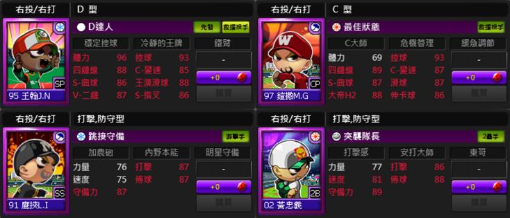 ★《全民打棒球2 Online》新增CPBL打者與投手紫卡
