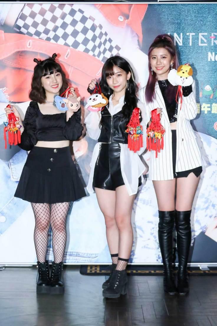 由左至右-團員ZT、團長葵妮、團員Yuni