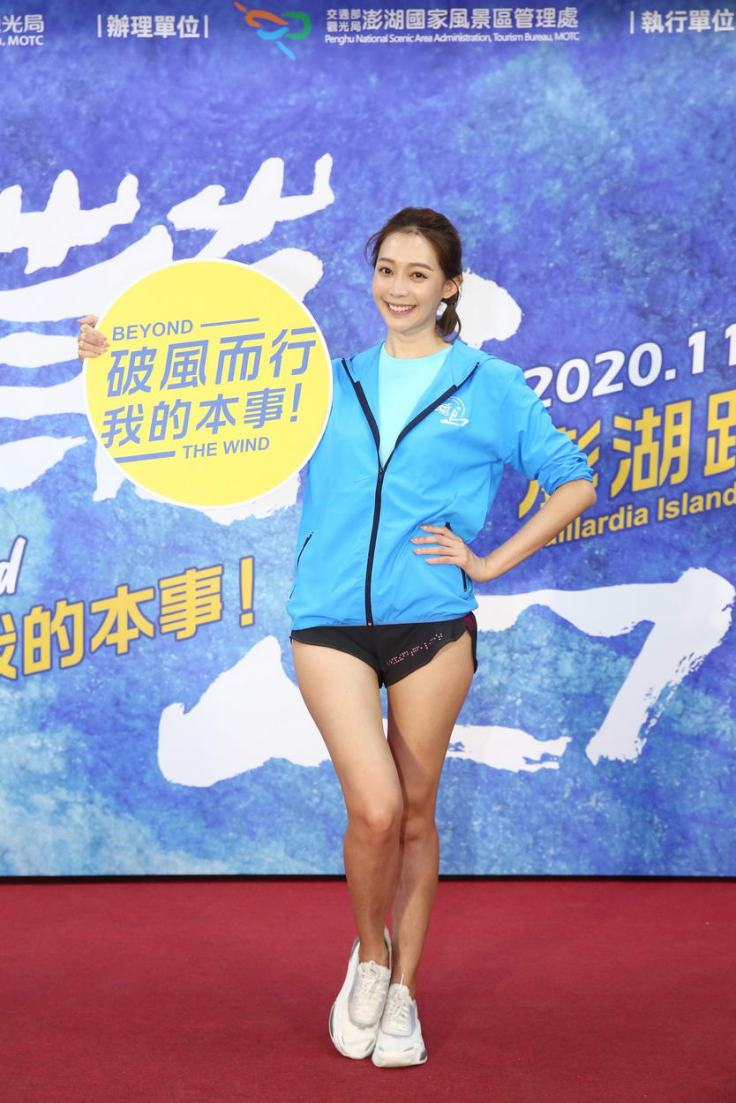 2020菊島澎湖跨海馬拉松的活動代言人「王心恬」。