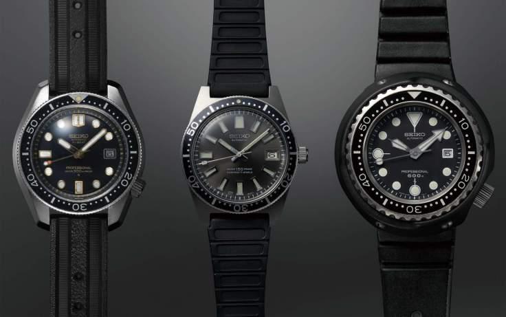1968年日本第一只36000轉潛水錶、1965年第一只日本國產潛水錶、1975年世界第一只採用保護外圈與鈦材質的600m潛水錶