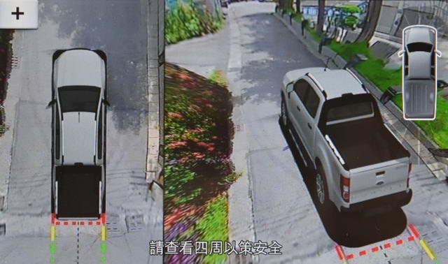 【圖四】Ford Ranger 運動型進化搭載全新360°環景影像行車輔助系統,提供駕駛者更直覺的影像輔助-2