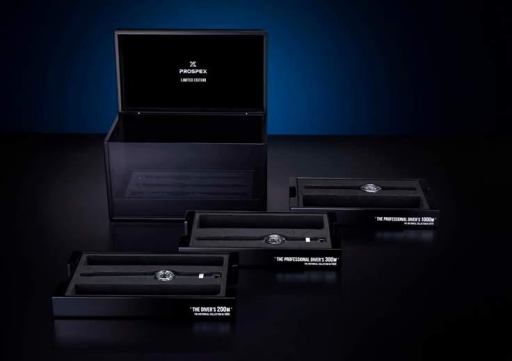三款復刻款特別推出紀念套組, 額外附有三條可替換式錶帶。全台限量一組,Seiko旗艦店獨賣。