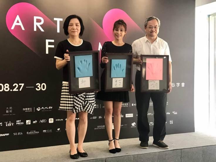 由左至右-紅心字會秘書長 李顯文、陳曼青、大會總監 張學孔